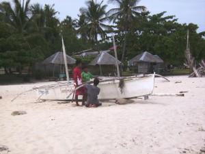 Fischerboot auf Pamilacan
