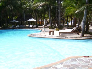 Resort mit Pool in Siquijor auf den Philippinen