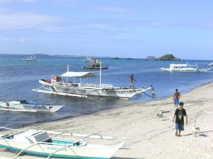 Sandstrand auf Malapascua, Cebu