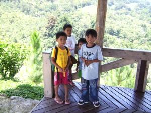 Aussichts-Plattform am Eingang des Mapawa Nature Park in den Bergen von Cagayan de Oro