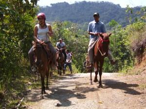 Unterwegs zu Pferd im Mapawa Nature Park