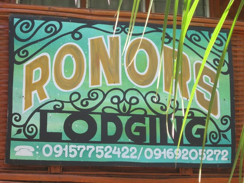 Ronors Lodging, Apo Island