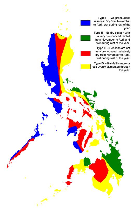 Wetterzonen auf den Philippinen