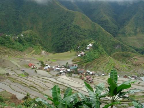 Batad in Gebiet der Reisterrassen auf den Philippinen