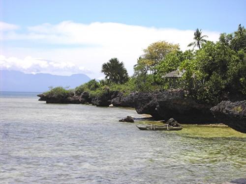 Malerische Küstenlandschaft auf der Insel Siquijor in der Bohol-Sea