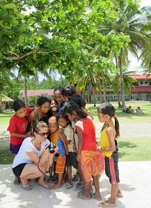 freundliche philippinische Kinder
