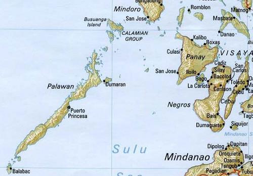 Die Inselprovinz Palawan zwischen Chinesischem Meer und der Sulu See