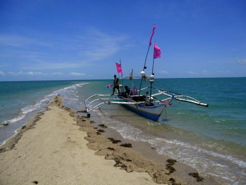 Sandbank im philippinischen Meer