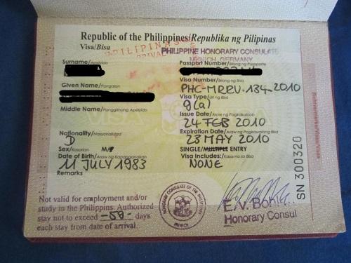 Philippinenvisum 59 Tage