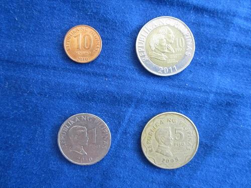 Philippinische Münzen: Centabos und Pesos