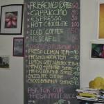 Getränkekarte, Kalibo Bar