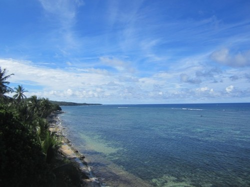 Küste Siargao Island