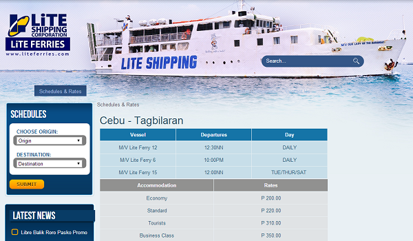 Schiffsverbindungen Lite Ferries