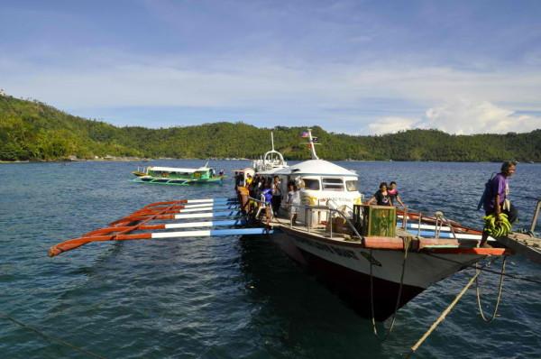 Fahrt mit einer philippinischen Bangka