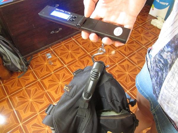digitale Waage für´s Gepäck