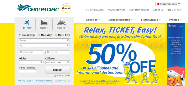 Cebu Pacific Air Flug buchen