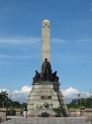 Rizal-Monument im Rizal Park in Manila (Philippinen)