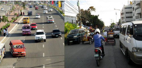 Typisches Bild im philippinischen Straßenverkehr