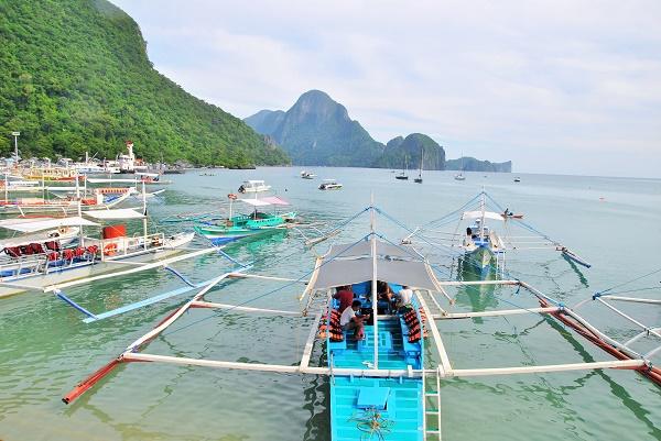 Philippinische Fischerboote