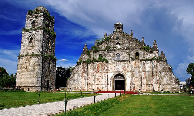 Church of San Agustín in der Gemeinde Paoay in der Provinz Ilocos Norte