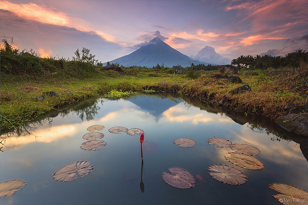 Der philippinische Mount Mayon
