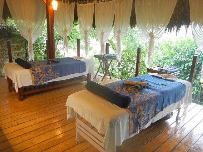 Spa-Bereich vom exklusiven Amun Ini Resort in Anda, Bohol