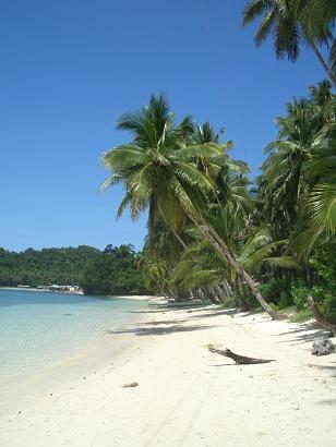 Philippinen Urlaub am weißen Strand