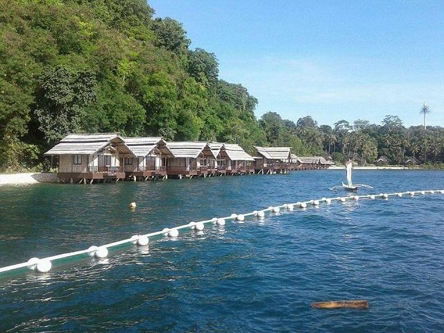 Cottages des Pearl Farm Beach Resort auf Samal Island nahe Davao City