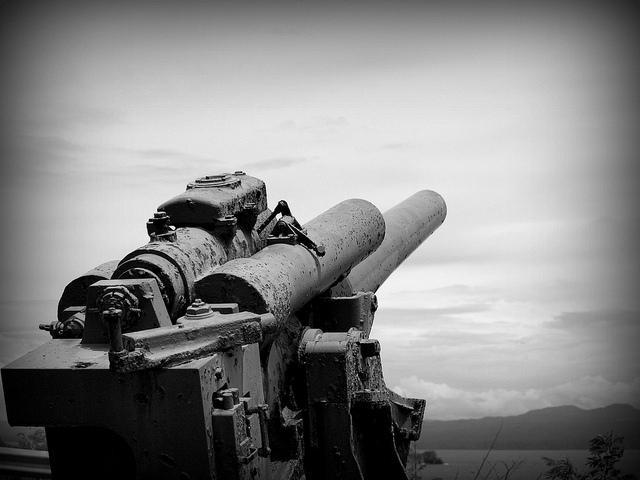 Schweres Artillerie-Geschütz auf Corregidor Island