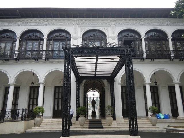 Der im spanischen Kolonialstil errichtete und mehrfach umgebaute Malacañang Palace in Manila