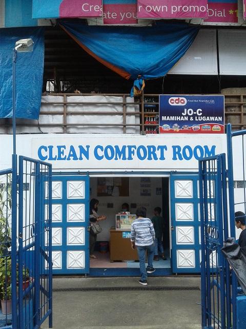 Clean Comfort Room am sauberen Baguio Public Market