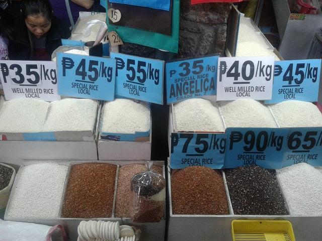 Verschiedene Reissorten am wunderschönen Baguio Public Market